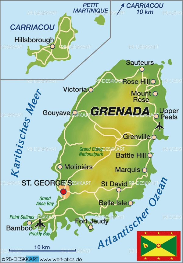 The capital or grenada is named st georges the absolute the capital or grenada is named st georges the absolute location of st georges is 120500 n and 617500 w location pinterest maps sciox Gallery
