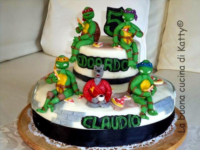 La buona cucina di Katty: Ninja turtles cake e il maestro Splinter