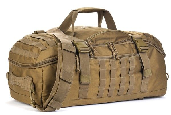 Home > Packs > Tactical > Backpacks > Traveler Duffle Bag FEATURES & INFORMATION  The Red Rock Outdoor Gear Traveler Duffle Bag is a hybrid between a tactical backpack and a piece of luggage. At a capacity of 55 liters it can carry the essentials well past 72 hours. The Traveler Duffle bag boasts a large main compartment partnered with two (optional use) zippered compartmentalizing walls.