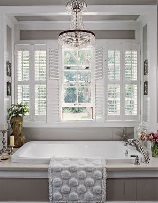 serine: Bathroom Design, Bath Tubs, Color, Bathtubs, Masterbath, Bathroom Ideas, Bathroom Window, Chand In Bathroom, Master Bathroom