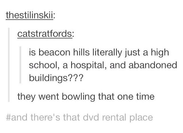 Teen Wolf // Tumblr //Beacon Hills