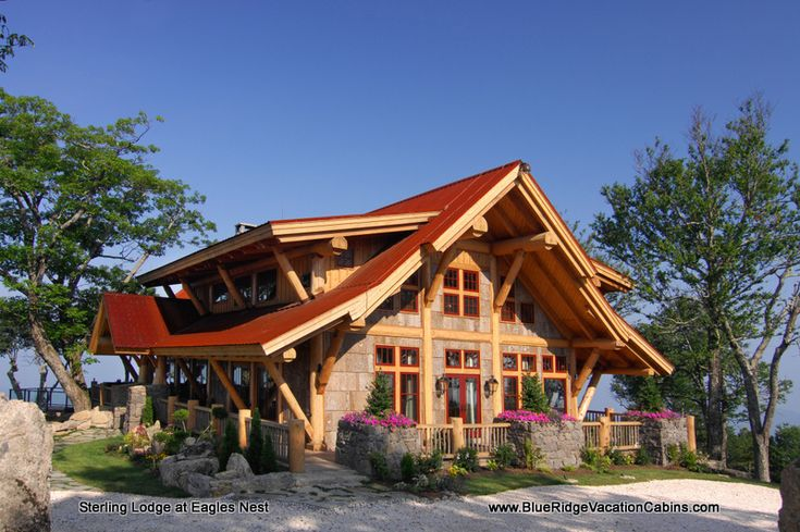 Sterling lodge nc luxury rental atop eagles nest banner for Eagles ridge log cabin