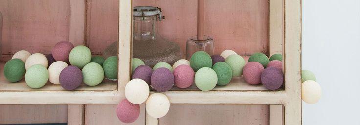 Cotton Ball Lights - Lichtslingers online kopen - Sfeerverlichting voor in huis