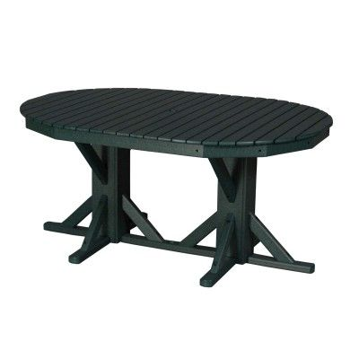 46x65 Oval Pedestal Table   Slatted top for easy cleaning With or without  an umbrella hole113 best By The Yard Outdoor Furniture Products images on  . Outdoor Dining Table No Umbrella Hole. Home Design Ideas