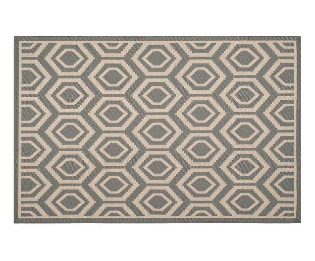 Super Blickfang! Ob drinnen oder draußen, der Teppich aus Polypropylen hält so einiges aus und ist mit klassischem Muster immer ein geschmacklicher Treffer. Ein Teppich für jede Lebenslage! Zusätzliches Plus: Der Teppich eignet sich auch bei Fußbodenheizung.