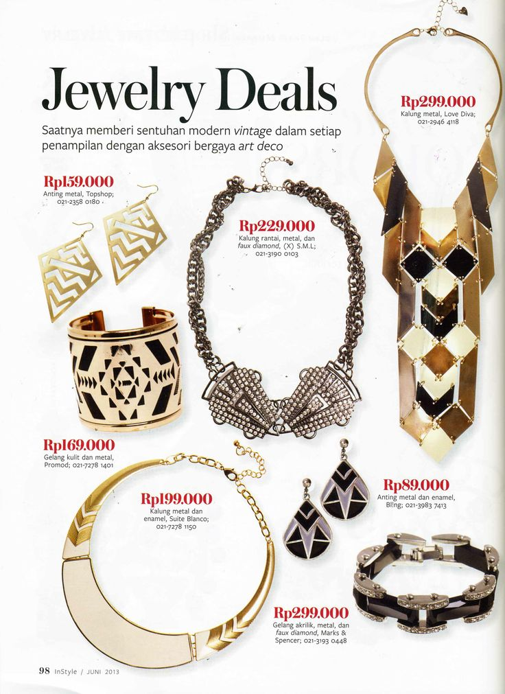 (X)S.M.L Metal Necklace is appeared on Instyle Indonesia - June 2013