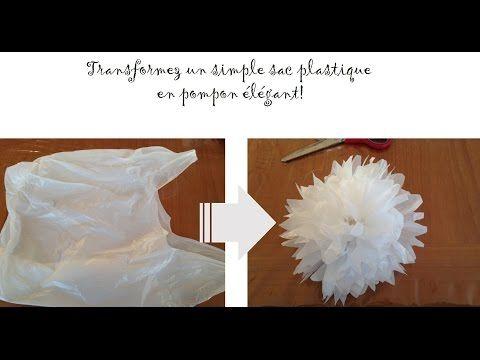 Faire un pompon avec un sac plastique #recup