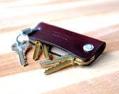 Luxury Horween Leather Keychain - mens keychain, key leather case, key leather holder, key leather pouch