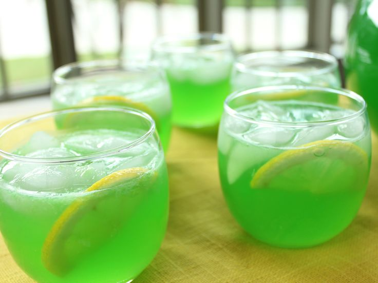 Green Punch from FoodNetwork.com--served this at my daughters 10th birthday party--huge hit!
