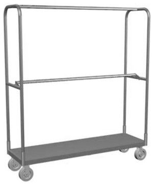 Lockwood Double Bar Steel Rolling Rack contemporary clothes racks