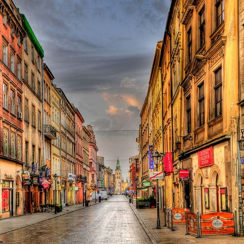 Grodzka Street, connecting Wawel Castle and the Main Market Square.. Krakow, Poland