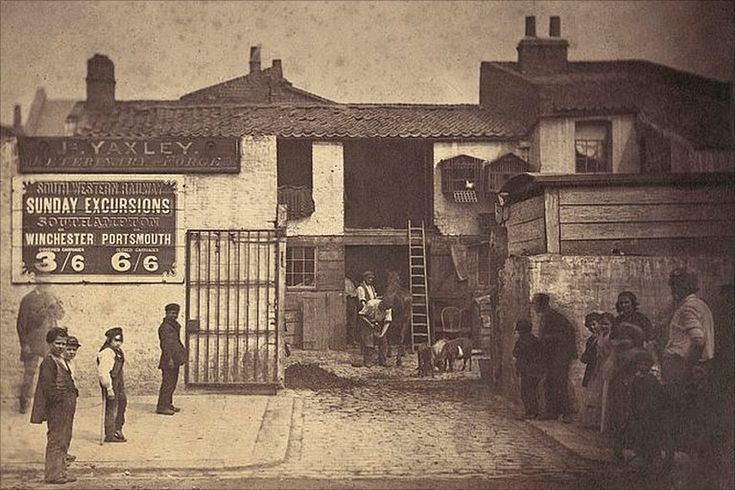 Yaxley Veterinary Forge, Buckingham Palace Road, London c1860 by Camille Silvy/Private collection, Paris