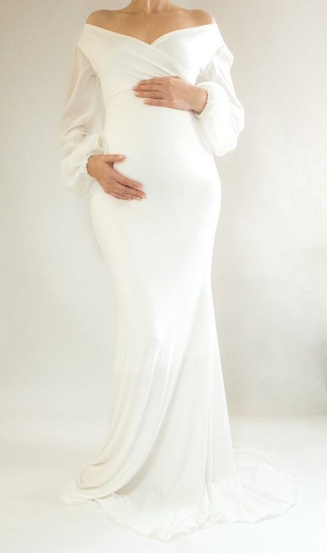 2a4e5261c6495 PETUNIA Maternity Dress Baby Shower Bridesmaid Dress Maternity | This  beautiful white fitted maternity dress is being worn to baby showers all  over the ...