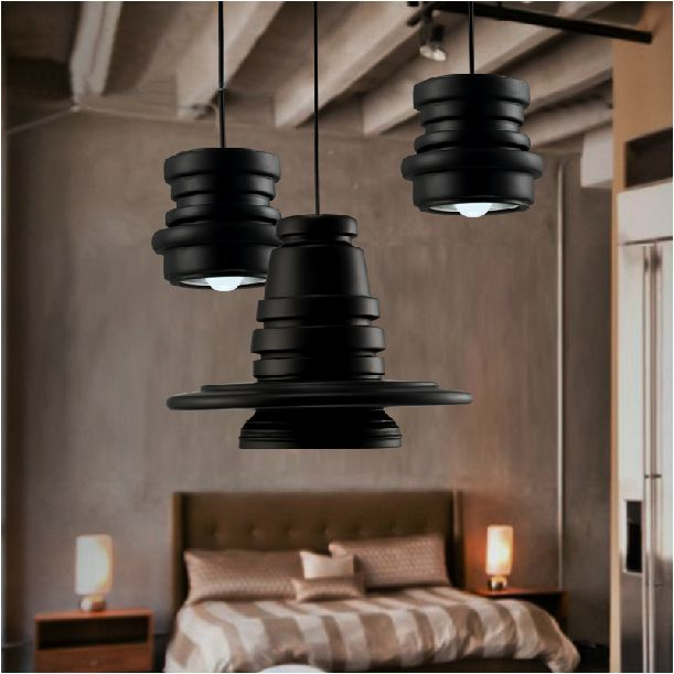 Superb ... Lamp Caravan Suppliers: Vintage Loft Large/Small Black Rings Resin  Pendant Light Bar Counter Industiral Pendant Lamp Home Decorative Fixture  Lighting