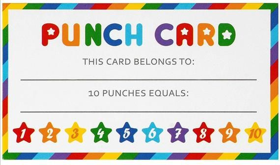Punch Card Download Pdf 21 Punch Cards Pdf File To Do Punch Etsy In 2021 Printable Chore Cards Punch Cards Chore Cards