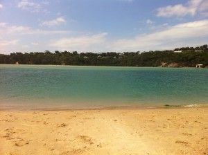 Merimbula Lake on the NSW South Coast, Australia