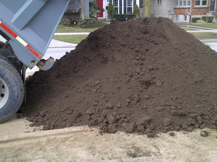 This is 20 cubic yards of topsoil delivered www for Backyard soil