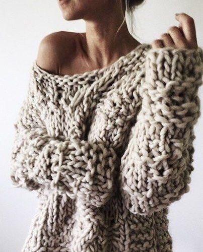 Cuncky Knit: Offshoulder Strickpullover
