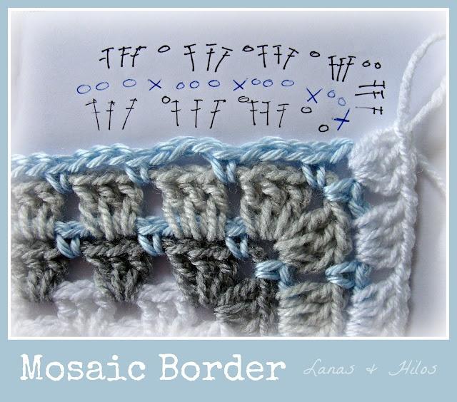 Lanas Hilos: 3rd GRANNY BLANKET- Mosaic Border