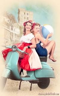 lance vintage scooter pink