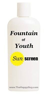 New research out of Australia concludes that the Fountain of Youth might not be filled with water after all. It turns out that it is filled with sunscreen.
