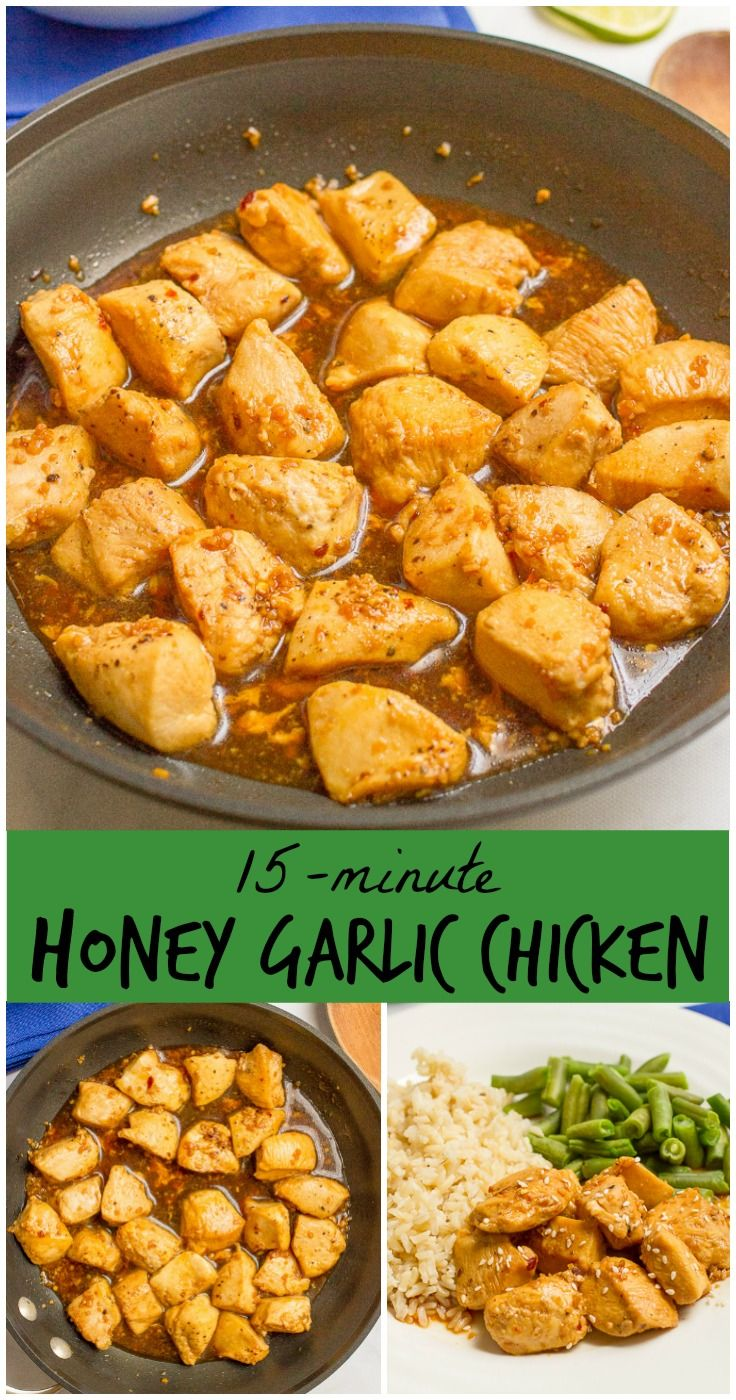 A 5-ingredient, 15-minute honey garlic chicken with an addictively delicious…