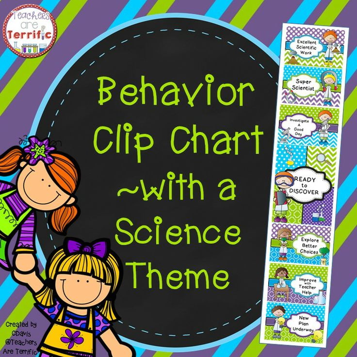 Science Charts For Classroom Decoration ~ Behavior clip chart for a science classroom with