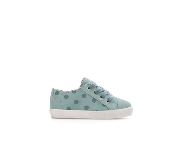 Image 1 of Trendy leather plimsoll from Zara