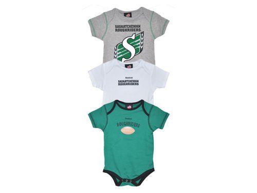 Saskatchewan Roughriders Reebok CFL Infant 3PCS Bodysuit Set from Jersey City