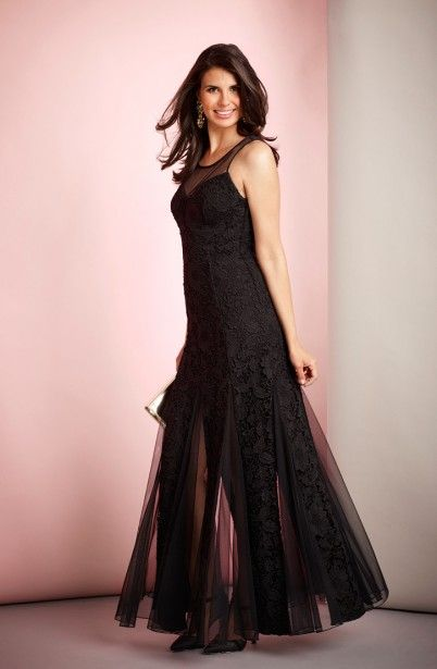 Long Lace Party Dress/by Fernando's fashions