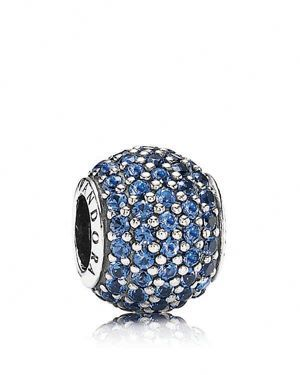 Pandora Charm - Sterling Silver and Blue Crystal Pave Lights, Moments Collection