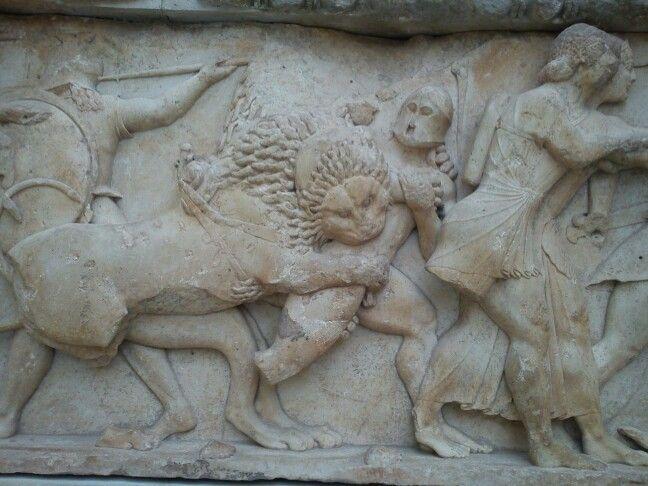 Lion detail - delphi greece