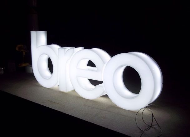 Sign makers LED illuminted signs for breo More