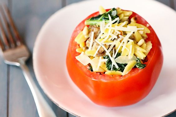 Come join in the recipe exchange. #TomatoLoveTomatoes Pappardelle, Low Carb, Recipe Exchange, Italian Sausage, Pappardelle Giveaways, Kale Orzo Stuffed, Orzo Stuffed Tomatoes, Tomatoes Seasons, Tomatoes Gimme