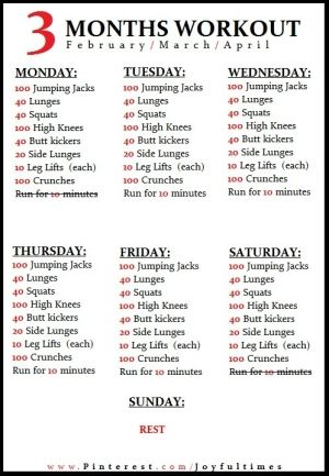 A daily workout from home. I like how I'm pinning this as if I'm actually going to stick with it ha ha.