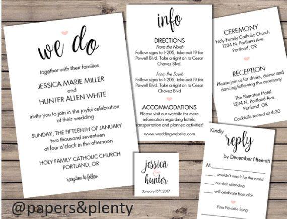 best 25+ wedding invitation inserts ideas only on pinterest, Wedding invitations