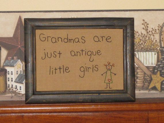 Primitive Stitchery  Grandmas are just by HomespunCreationsJDC, $15.95