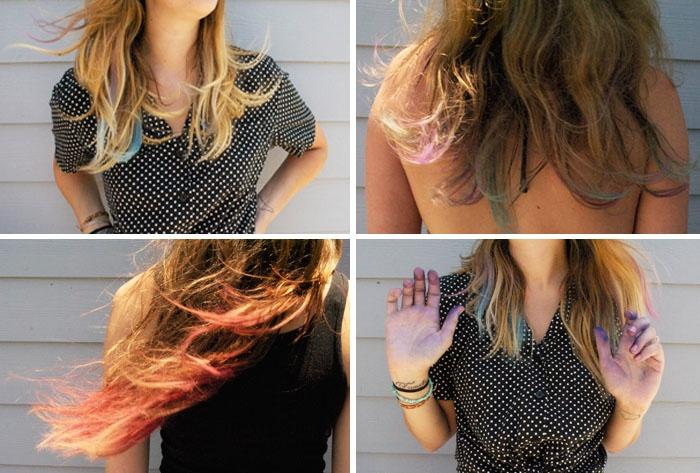 DIY: Hair Chalk Tutorial  #collectandcarry: Tutorial Collectandcarry, Diy Hair, Neat Stuff, Collect Carry, Hair Chalk