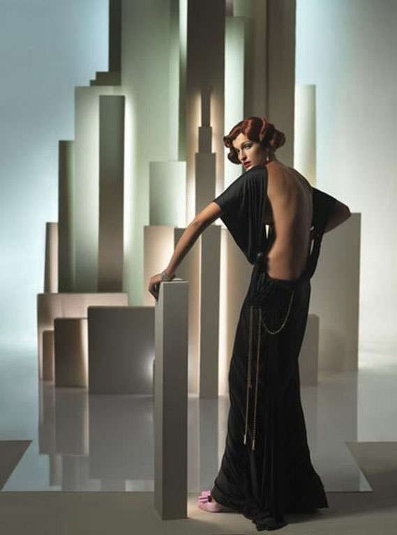 Art Deco Fashion. I love the back of this dress