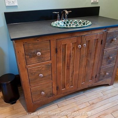 Bathroom Vanity Barn Board Cabinet Prairie Country