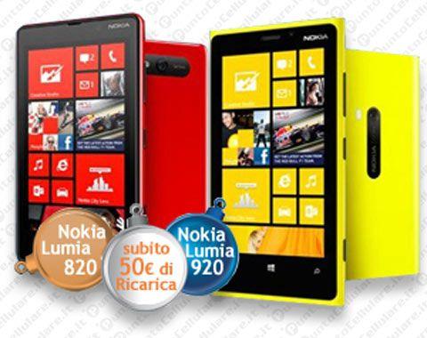 Wind - 50 euro di ricarica in omaggio sui Nokia Lumia 820 e Lumia 920
