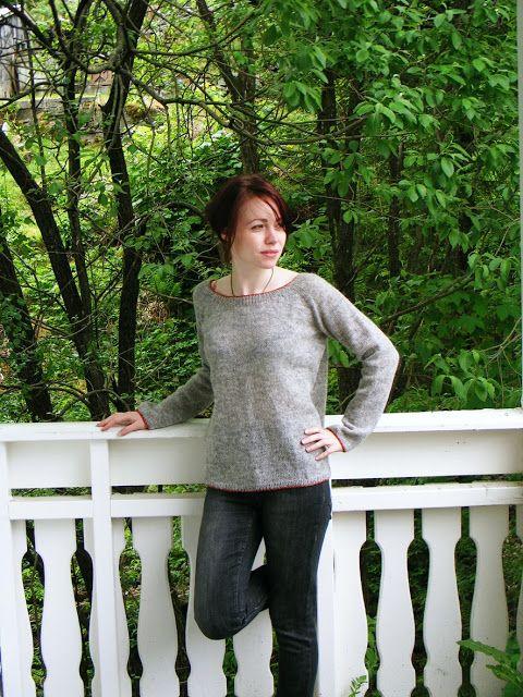 bottom up raglan sleeves sweater