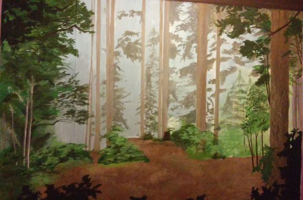 The 25 best forest mural ideas on pinterest forest for Anthropologie enchanted forest mural