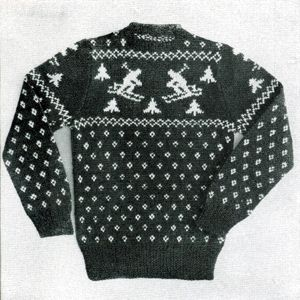 Boy's or Girl's Sweater | No. 34 | Size 32 | Knitting Patterns