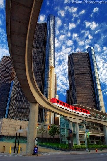 Renaissance Center & People Mover, Detroit, MI,,  Totally enjoyed my trip to here!