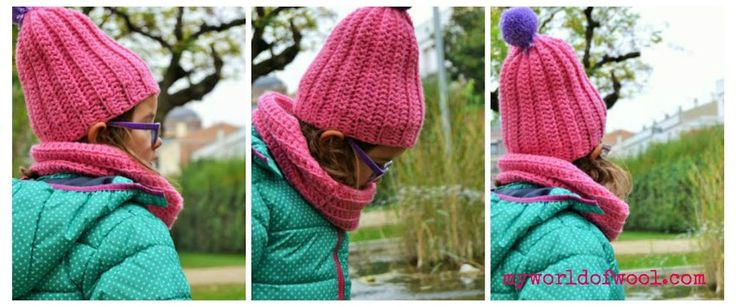 my world of wool: Tutorial how to make a beanie for children 4-6 years ~ free pattern ᛡ