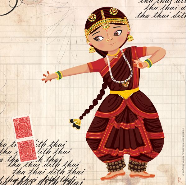 Maithili dances the Bharatanatyam