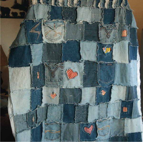 I want to make a jean quilt out of scraps of jeans that I cut off into shorts and jeans that are not usefull anymore.