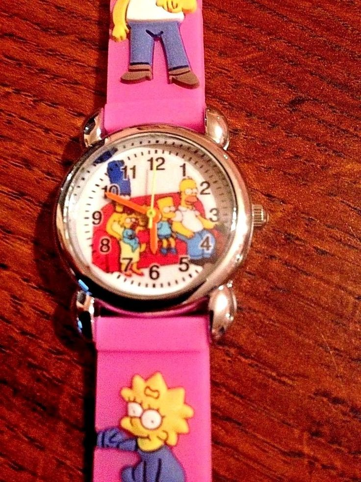 New Pink SIMPSONS Silicone Girls Watch 3-D  | eBay