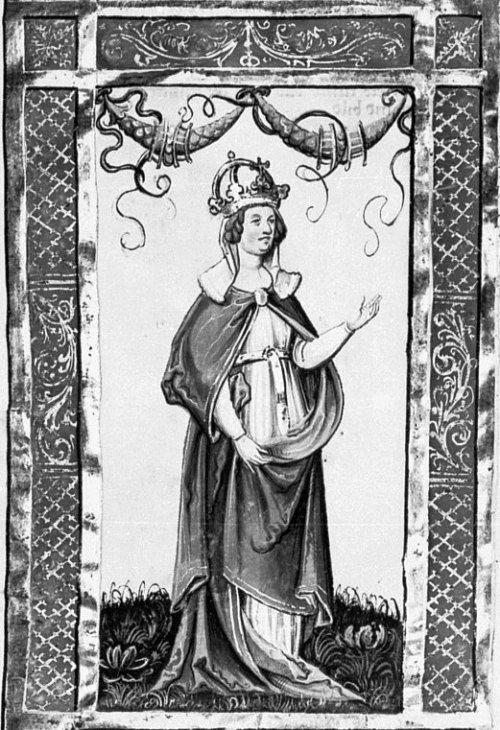 Judith de Bavière dans la Chronique des Welfs - JUDITH DE BAVIERE, 1: Elle est la fille d'un noble bavarois, WELF 1°, seigneur d'ATDORF et de RAVENSBURY. En février 819, âgée de 14 ans, elle épouse à Aix-la-Chapelle LOUIS 1° LE PIEUX, veuf d'ERMENGARDE DE HESBAYE, âgé de 49 ans. De ce mariage naissent GISELE, entre 819 et 822 et CHARLES, en 823.